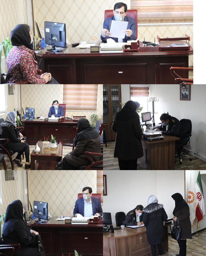 به رسم هر چهارشنبه مدیرکل بهزیستی میزبان مددجویان البرزی بود
