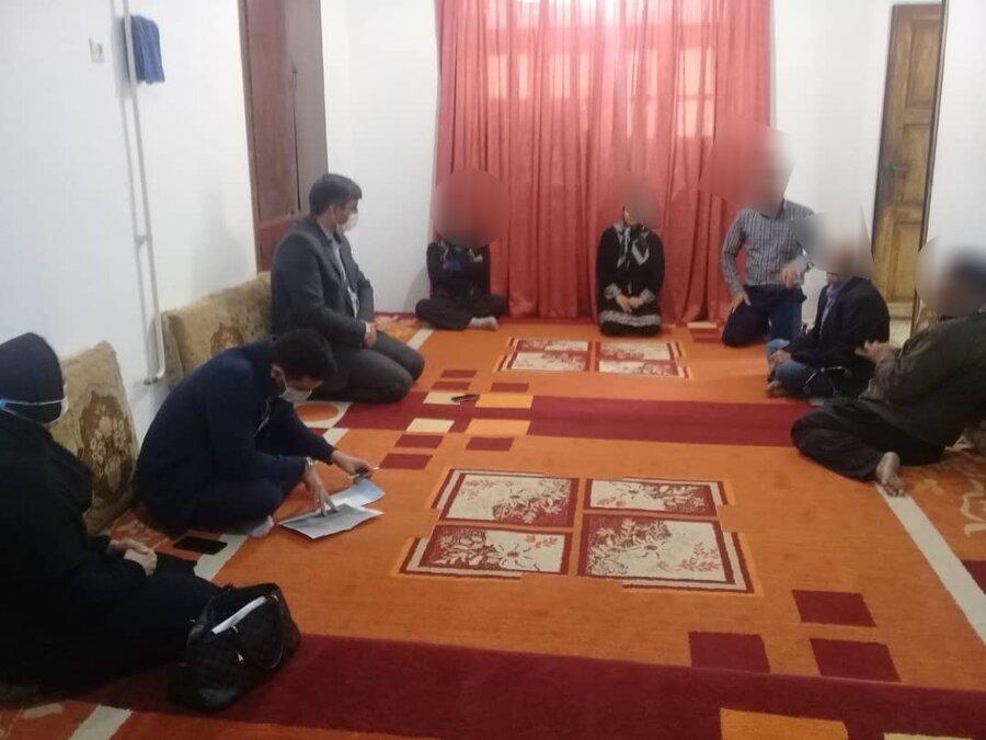 بازدید مدیر بهزیستی شهرستان گرگان از خانواده دارای6 معلول این شهر