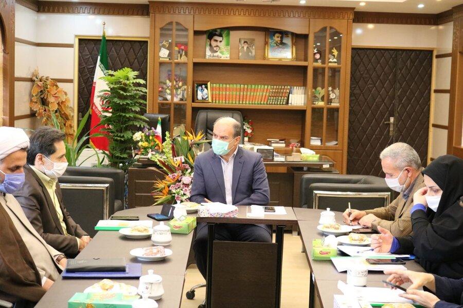 نشست مدیرکل بهزیستی گیلان با فرماندار شهرستان لنگرود
