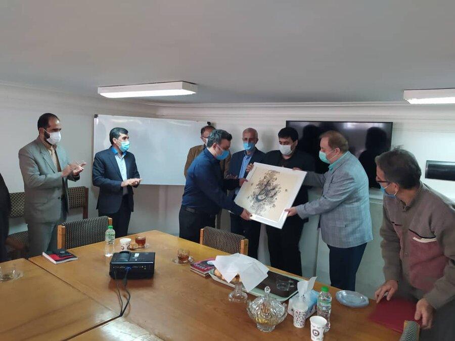 بازدید مدیر کل بهزیستی مازندران از موسسه فرهنگی هنری نشر صوتی آوانامه