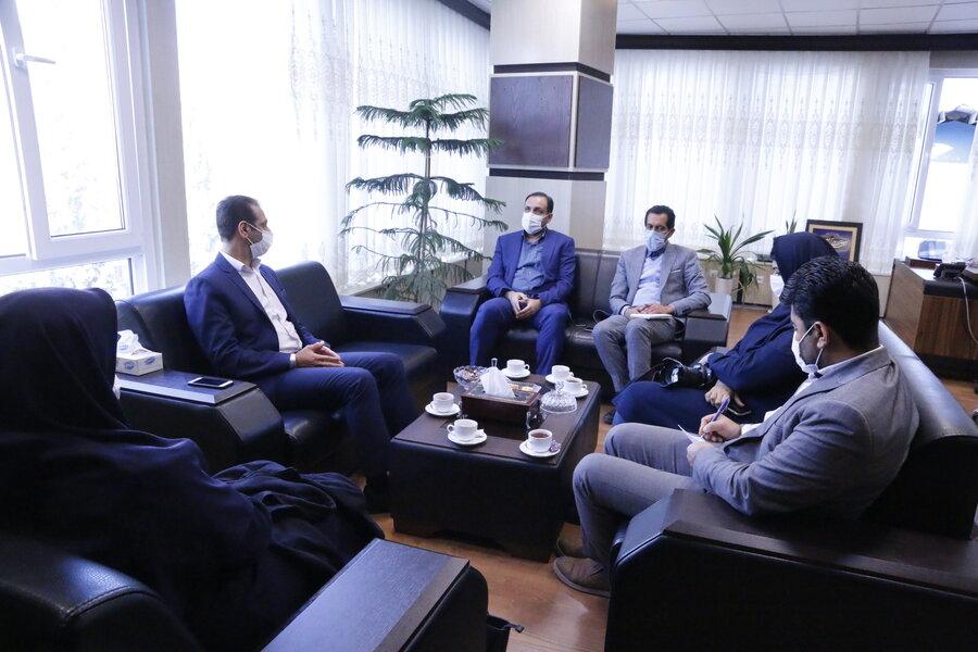 دیدار مدیرکل میراث فرهنگی، صنایع دستی و گردشگری استان با مدیرکل بهزیستی گلستان