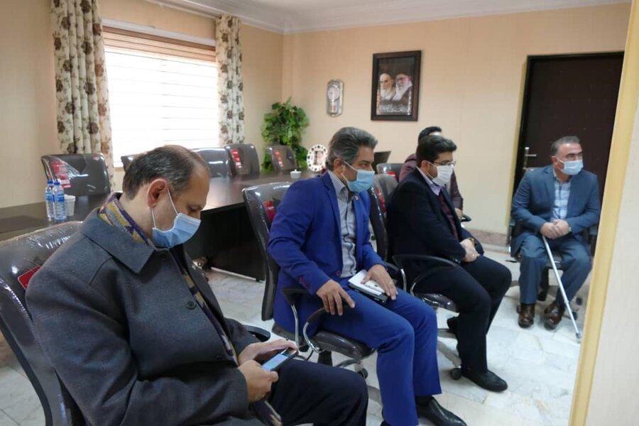 نشست مدیرکل بهزیستی گیلان با فرماندار شهرستان ماسال