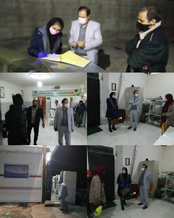 ساوجبلاغ | بازدید شبانه از مراکز کاهش آسیب تحت نظارت بهزیستی شهرستان ساوجبلاغ