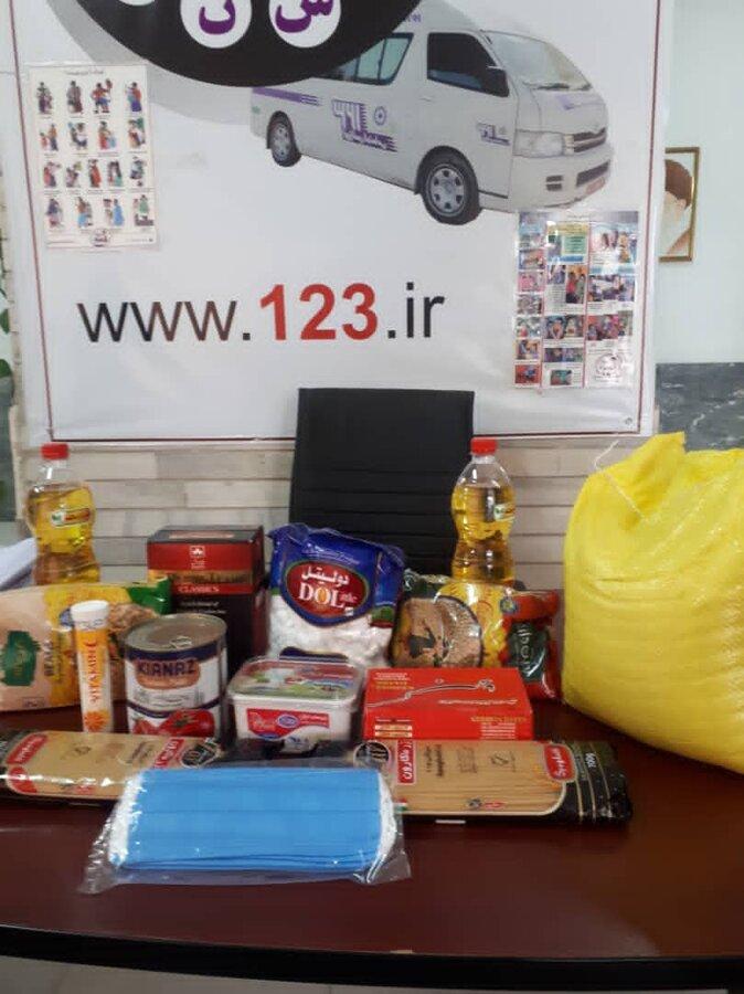 پاکدشت کارکنان اورژانس اجتماعی میان مددجویان بسته های حمایتی توزیع کردند