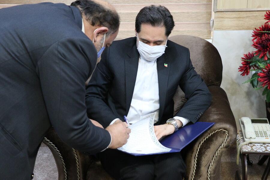 امضاء تفاهم نامه همکاری فی مابین اداره کل بهزیستی گیلان و سپاه قدس استان