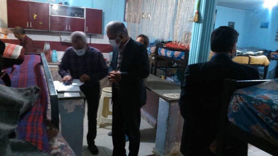بازدید شبانه و سرزده مدیر کل بهزیستی خراسان رضوی از چند شلتر در مشهد