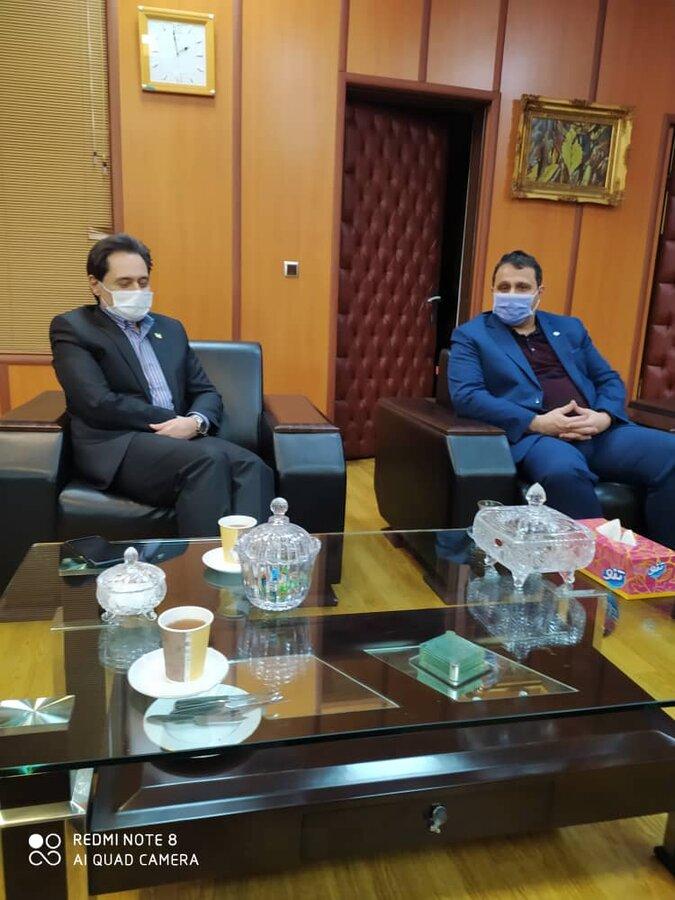 دیدار مدیر کل بهزیستی گیلان با مدیر امور شعب بانک رفاه کارگران استان