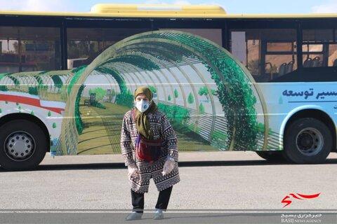 شاهرود | گزارش تصویری از راه اندازی اتوبوس ویژه معلولان و ون تسهیل عبور و مرور روشندلان