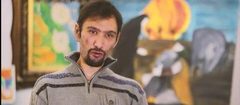 فیلم | نمایش آثار نقاشی هنرمند معلول زنجانی در نمایشگاه مجازی افراد دارای معلولیت