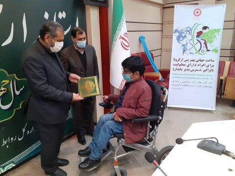 گزارش تصویری | تجلیل استاندار قزوین از معلولین برگزیده استان