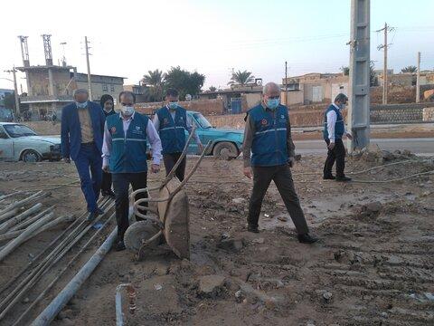 گزارش تصویری بازدید مدیر کمیته بحران سازمان بهزیستی کشور ازمناطق سیل زده استان بوشهر