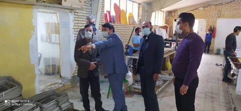 گزارش تصویری بازدید مدیرکل اشتغال بهزیستی کشور از کارگاه کمپ ماده۱۶قمرود