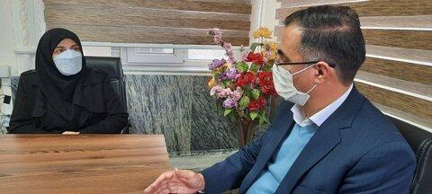 گزارش تصویری/ دیدار  و گفتگوی مدیر کل بهزیستی  با فرماندار شهرستان هریس