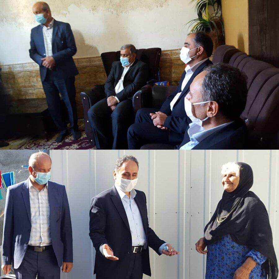 دشتستان|بازدید معاون سیاسی امنیتی استانداری از خانواده سه معلولیتی
