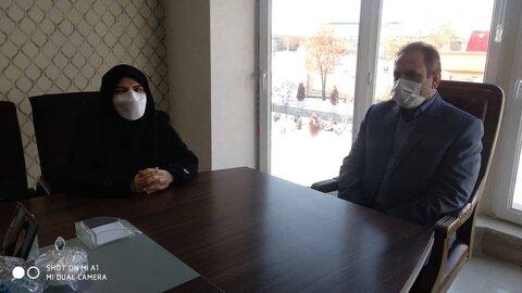 گزارش تصویری| دیدار مدیر کل با فرماندار ورزقان