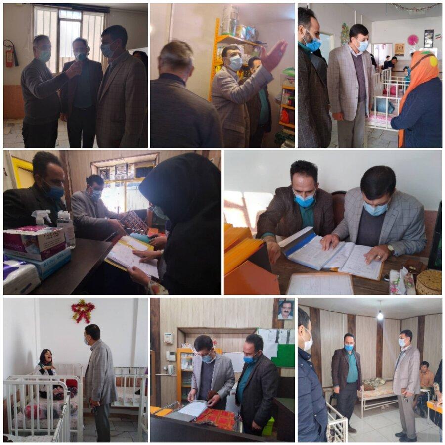 نظرآباد |بازدید سرزده رئیس بهزیستی نظرآباد از مراکز توانبخشی تحت نظارت پوشش سازمان