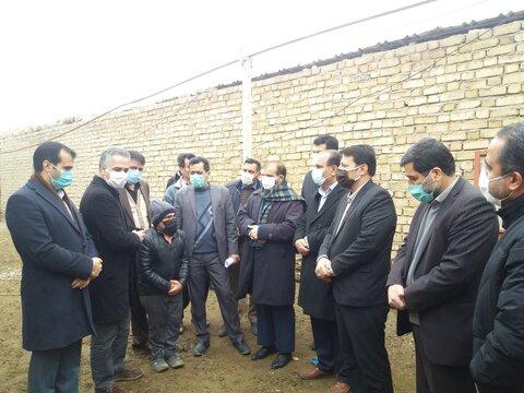 کبودراهنگ| بازدید مسئولین استانی و شهرستانی از ساختمان درحال ساخت مددجو