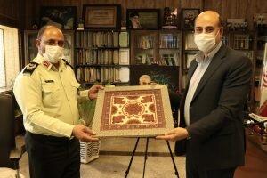 دیدار مدیرکل بهزیستی با فرماندهی ناحیه انتظامی کرمان به مناسبت هفته نیروی انتظامی