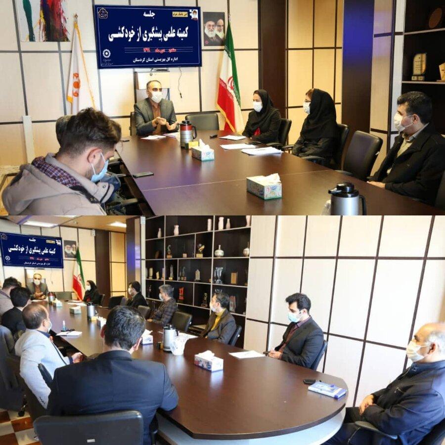 نشست تخصصی درون و برون سازمانی  کمیته علمی پیشگیری از خودکشی در بهزیستی کردستان