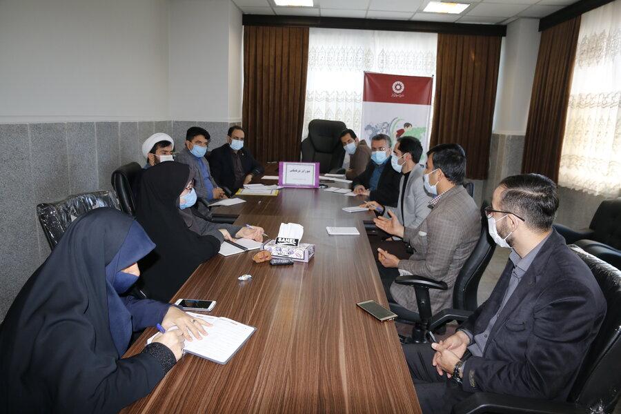 نامگذاری سالن اجلاس بهزیستی گلستان بانام شهید سردار سلیمانی