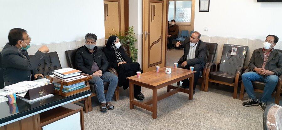 لنجان| جلسه مدیر عامل کانون ناشنوایان استان و رئیس بهزیستی لنجان