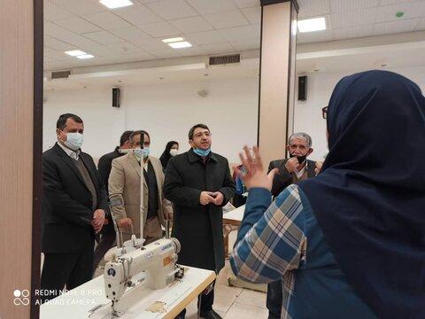 بازدید معاون وزیر و رئیس سازمان بهزیستی کشور از کارگاه اشتغال و توانمندسازی افراد دارای معلولیت یزد