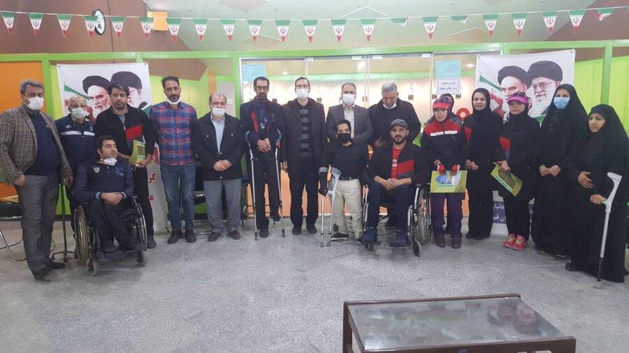 مسابقات تیراندازی معلولین جسمی حرکتی استان قم