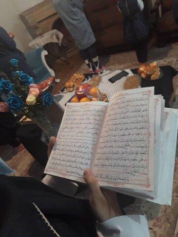 برگزاری مراسم ختم قرآن و هدیه به روح شهید سلیمانی