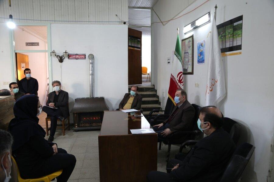 جلسه تخصصی مدیر کل با کارکنان شهرستان فریدونکنار