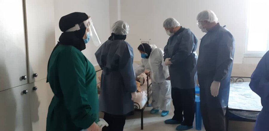 بازدید از مرکز توانبخشی مراقبتی سالمندان شهرستان فومن