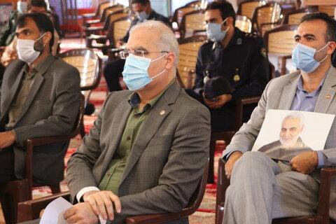 حضور مدیر کل بهزیستی استان در اولین سالگرد شهادت سردار سلیمانی