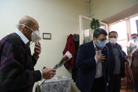 دیدار رییس سازمان بهزیستی کشور با سالمندان مرکز گئورگ مقدس