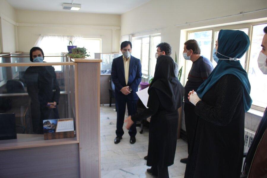 بازدید مدیرکل بهزیستی استان  از مرکز مشاوره تلفنی ۱۴۸۰