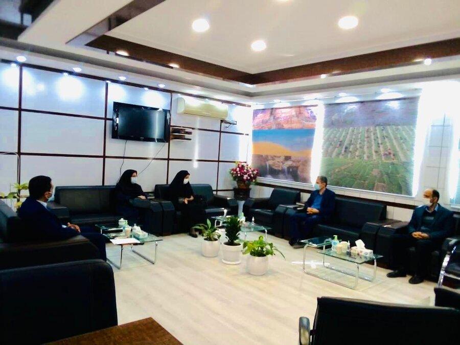 دیر|دیدارمعاونت امور اجتماعی اداره کل بهزیستی استان با فرماندار شهرستان دیّر