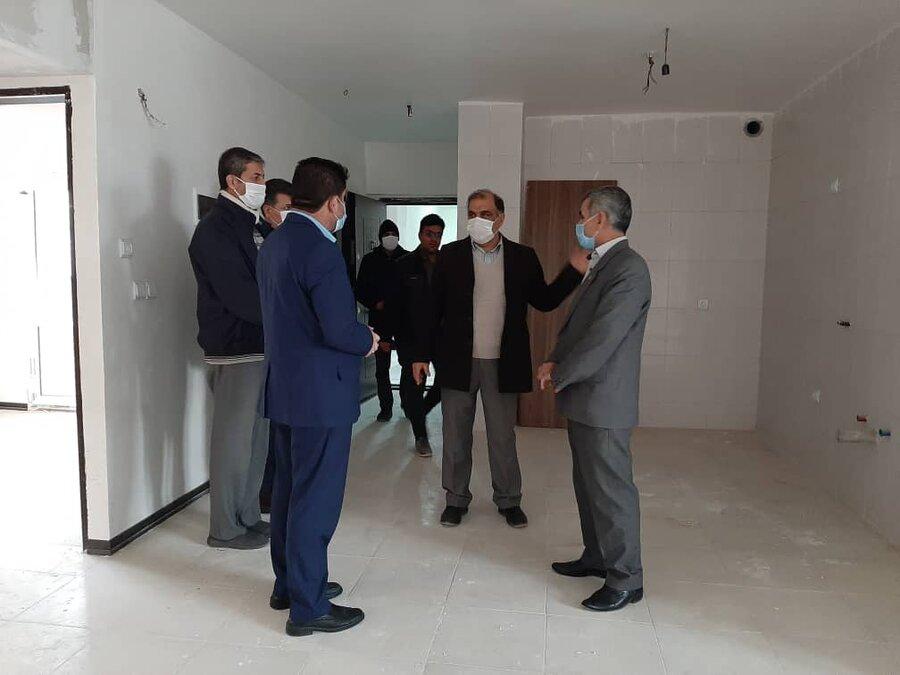 بازدید معاون مشارکت های مردمی از پروژه مسکن فولاد شهر