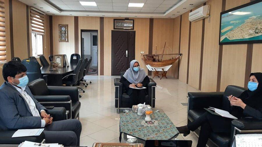 نشست معاون امور توانبخشی بهزیستی با مدیر کل و معاون آموزش  فنی حرفه ای استان بوشهر