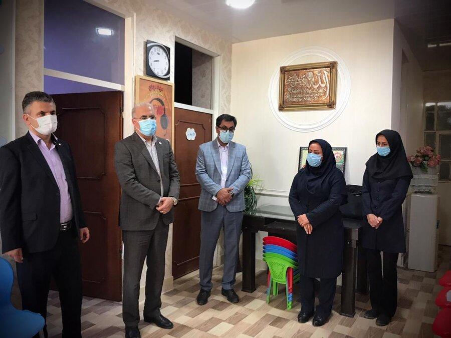 دیر|مدیرکل بهزیستی استان از مراحل تجهیز و آماده سازی مراکز  مثبت زندگی در شهرستان دیّر بازدید کرد