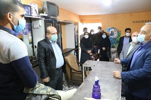 گزارش تصویری | بازدید مدیر کل بهزیستی هرمزگان از کارگاه اشتغال در شهرستان بندر خمیر