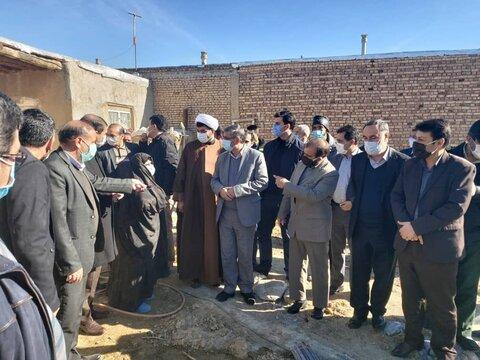 کبودراهنگ| بازدید مسئولین استانی وشهرستانی از ساختمان درحال ساخت مددجوی تحت پوشش بهزیستی شهرستان