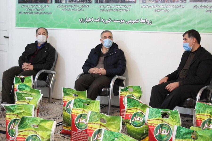 توزیع ۵۰۰ بسته غذایی توسط موسسه خیریه ائمه اطهار (ع) اردبیل