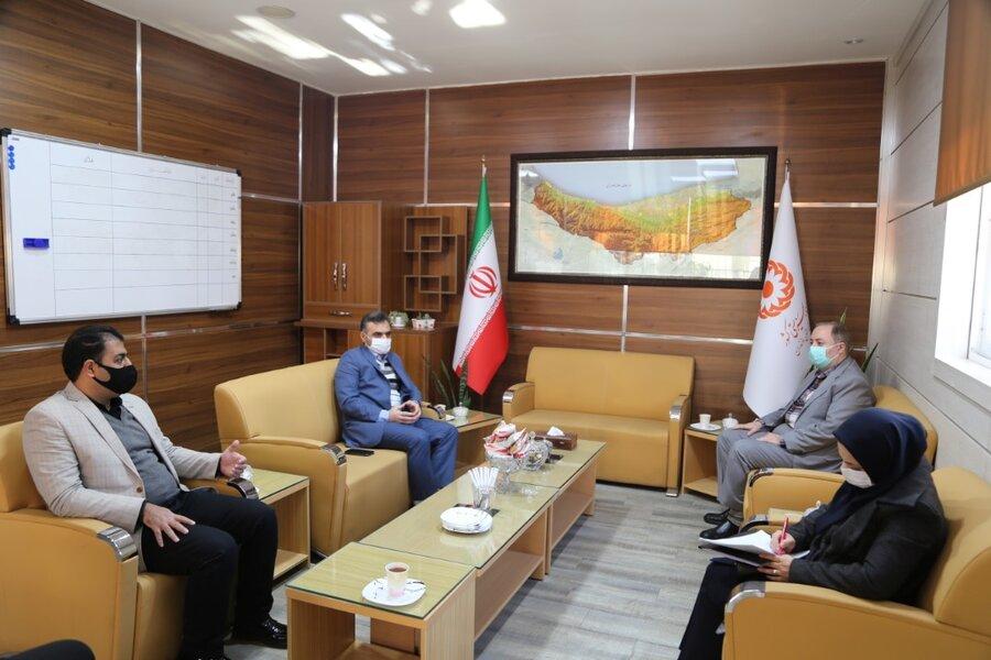 دیدار مدیر کل ثبت احوال مازندران با مدیر کل بهزیستی استان