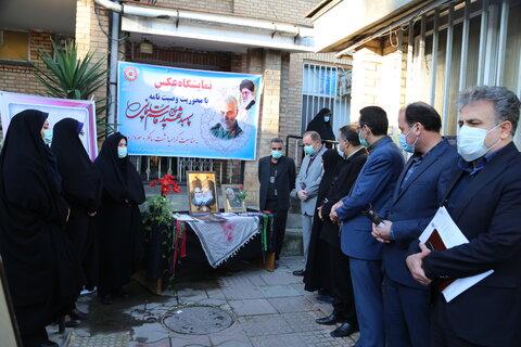 گزارش تصویری  برگزاری نمایشگاه عکس سردار دلها در دهه بصیرت