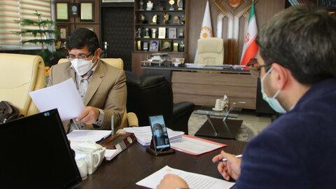 ملاقات مجازی رییس سازمان بهزیستی کشور با تعدادی از مدیران تشکل های صنفی افراد دارای معلولیت