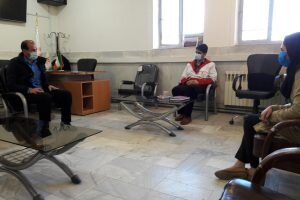 دیدار رییس جمعیت هلال احمر شهر بابک با رییس وکارشناسان بهزیستی این شهرستان