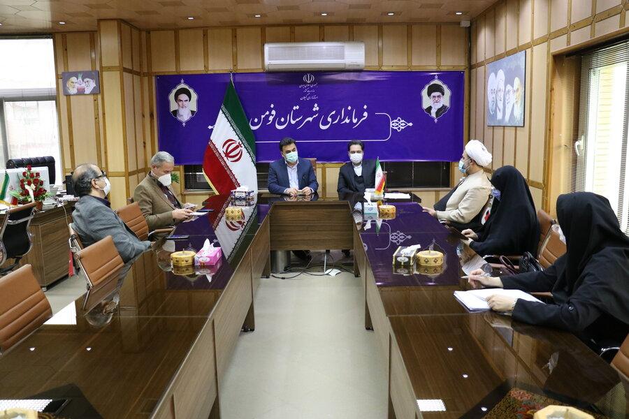 نشست دکتر حسین نحوی نژاد با فرماندار فومن جهت بررسی مسائل و مشکلات شهرستان