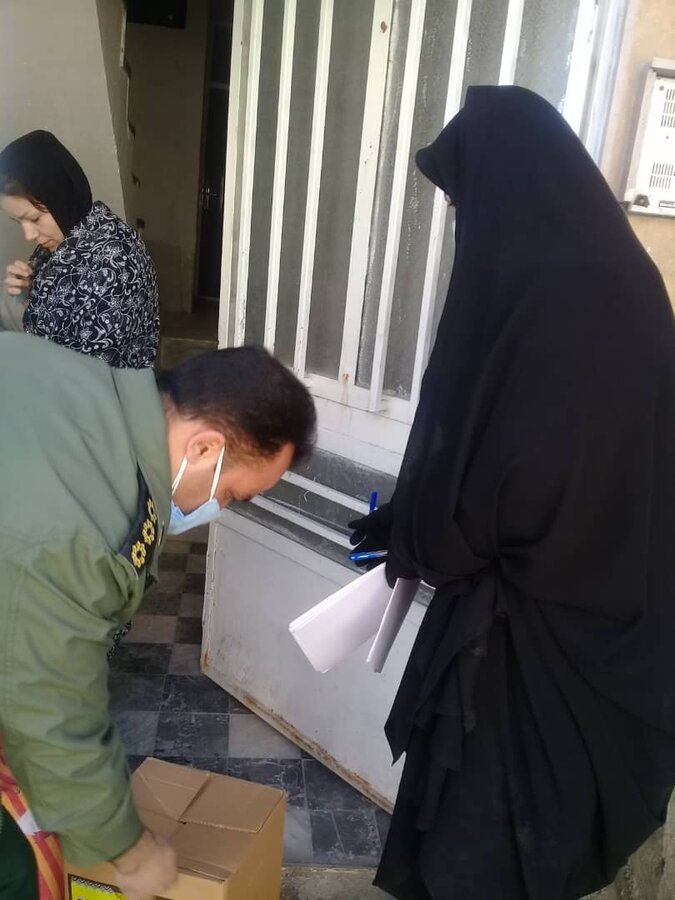 فیروزکوه| همکاری کارکنان بهزیستی در اجرای طرح شهید سلیمانی