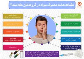 اینفوگرافیک | آشنایی با نشانه های مصرف مواد در فرزندان