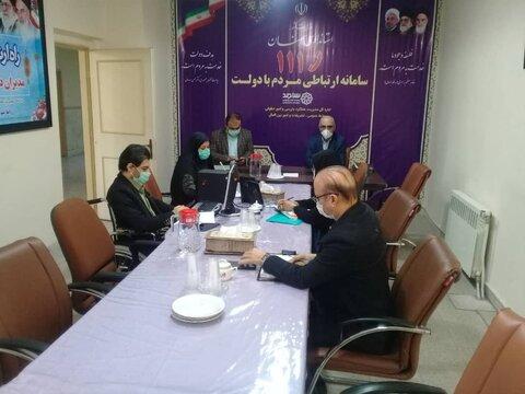 گزارش تصویری | حضور مدیرکل در سامانه سامد(111)