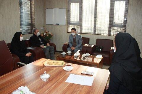 شهریار| هم اندیشی سرپرست بهزیستی شهرستان با رئیس اداره فرهنگ وارشاد اسلامی