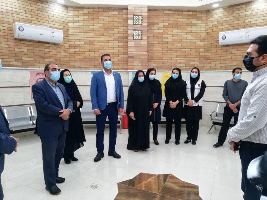 بازدید مدیرکل بهزیستی فارس و هیئت همراه از اورژانس اجتماعی شهرستان لار